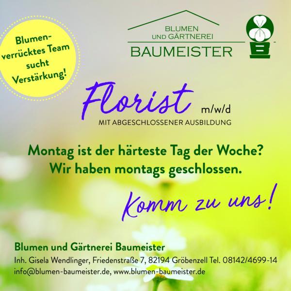 Florist m/w/d gesucht